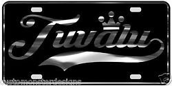 Tuvalu License Plate All Mirror Plate And Chrome And Regular Vinyl Choices
