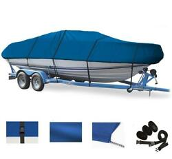 Blue Boat Cover For Caravelle 207 Fish And Ski I/o W/ Extd Swpf 2004-2007