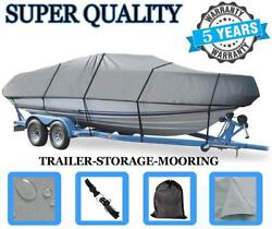 Grey Boat Cover For Crestliner Muskie Pro 16w O/b 1984-1990