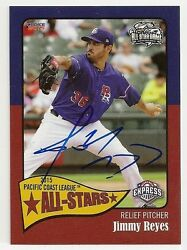 Jimmy Reyes 2015 Round Rock Express Pcl All Star Game Signed Card