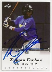 Tiquan Forbes Texas Rangers 2013 Leaf Perfect Game Signed Card