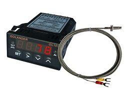 24V DC 132DIN Digital PID Temperature Controller Red with K thermocouple