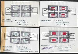 United States Covers 1944 4 Shipcovers Knsm Ss Cottica To Curacao