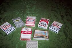 Old Collection Of 8 Playing Card Set Sealed Never Used Cheap No Reserve