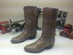 Lucchese Vintage 90and039s Made In Usa Western Cowboy Engineer Trail Boss Boots 6.5 D