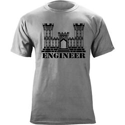 Us Army Engineer Branch Insignia Castle Veteran Graphic T-shirt