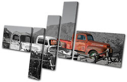 Canvas Art Picture Print Photo Graffiti Decay Desert Vintage Old Cars Rustic