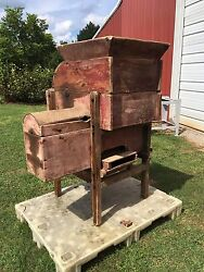 Antique John Deere Wooden Grain Cleaner For Gristmill Circa 1900and039s Jd Hit N Miss