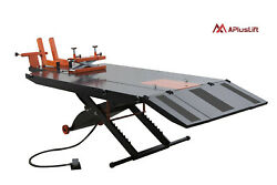 Apluslift 1500lb Air Operated Motorcycle Atv Lift Table With Side Ext. Mt1500x