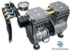 New 3/4hp Aeration Pump For Deep Ponds With Manifold/gauge/feet/filter/capacitor