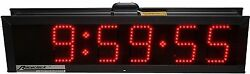 Raceclock By Electro-numerics Ultra-bright Led Double-sided 9959.59 9in