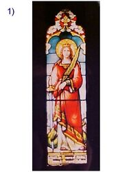 + Fine Older Church Stained Glass Window + Shipping Available +