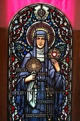 + Antique Stained Glass Window of