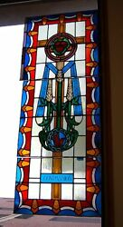 + Church Stained Glass Window + 6 Of 7 + Shipping Available +