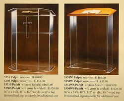 + Acrylic Pulpit + Lectern + 3351 + Chalice Co. +