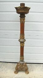 + Old Traditional Ornate Candlestick Paschal Candlestick + Chalice Co. +