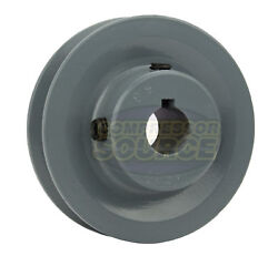3 Cast Iron 5/8 Shaft Pulley Sheave Single 1 Groove V Style A Belt 4l New