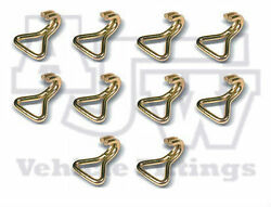 10 Steel Wire Claw Hook 50mm 3 Ton Webbing Ratchet Strap Truck Trailer Recovery