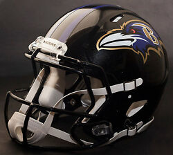 Baltimore Ravens Nfl Authentic Gameday Football Helmet W/ Cu-s2bd-sw Facemask