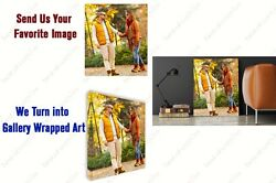 Custom Canvas Your Photo Framed 1.5 Thick Stretched Print Art Home Decor Wall