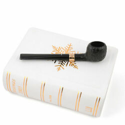 Dunhill 2005 Christmas Pipe, Gold Band - New / Unsmoked