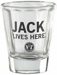 Jack Daniels Shot Glass - Lives Here - Old No. 7 Bug - 2 Oz - Tennessee Whiskey