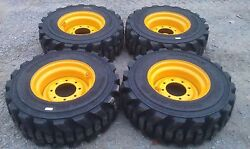 4 NEW 12-16.5 Carlisle Guard Dog Tires & Rims for New Holland-12X16.5-HEAVY DUTY