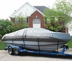 Great Boat Cover Fits Sun Tracker Party Barge 24 Dl V-front O/b 1989-1990