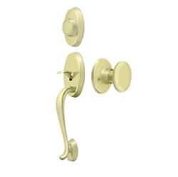 Riversdale Dummy Door Handleset With Round Knob In 4 Finishes By Deltana