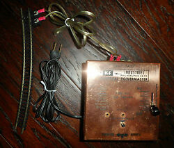 Vintage Model Train Power/control Box -works Includes 16 Tracks And 3 Rerailers
