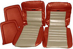 Mustang Deluxe Pony Seat Trim Kit Emberglow And Parchment 66 1965 1966 Convertible