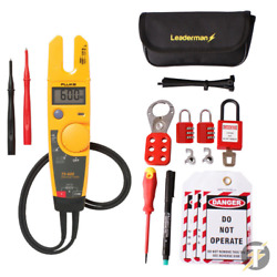 Fluke T5-600 Voltage And Continuity Tester With Mcb/rcd Lock Out/off Kit Los-k1