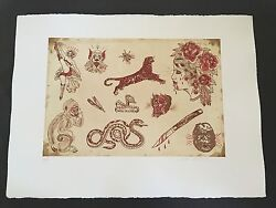 Dr. Lakra - Mod. 5 - Rare Hand Signed And Numbered Original Etching Made In 2008