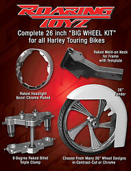 26 Inch Front End Wheel Tire Kit Harley Bagger Street Glide Road King Touri