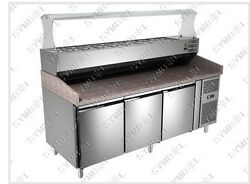 Refrigerated Granite Top Pizza Prep Table/ Counter 200 Cm Wide