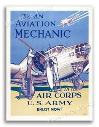 1940s Join The Us Army Air Corps Wwii Historic War Recruiting Poster - 20x28