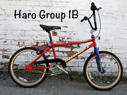 Old School Early 1992 Haro Group 1 Series B Racing Bmx Bike Nos Original