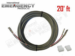 20and039 Ft Strobe Cable 3 Wire Power Supply Shielded For Whelen Federal Signal Code3