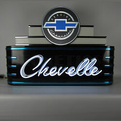 Chevelle Ss Neon Sign - Chevrolet - Bowtie - Chevy - Gm - Art Deco Marquee