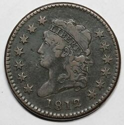 1812 S-289 Large Date Classic Head Large Cent Coin 1c