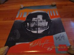 Autographed Mike Singletary Chicago Bears Citi One Poster Signed 07-1994