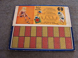 Vintage Punch Board Select Your Smoke 1 Cent Illegal Gambling Serial 6083
