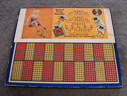 Vintage Punch Board Select Your Smoke 1 Cent Illegal Gambling Serial 7796