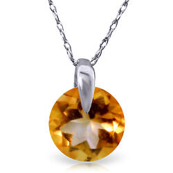 0.8 Ctw 14k Solid White Gold Fine Castles Not In Air Citrine Necklace 20