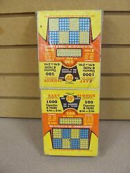 Vintage Punch Board Baby Sawbuck Gambling Device Set Of 4 In Plastic