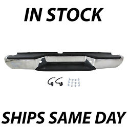 Chrome - Complete Steel Rear Bumper Assembly For 2005-2019 Nissan Frontier Truck
