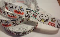 Beagle Snoopy Studios inspired 7 8quot; Grosgrain Ribbon By The Yard USA Seller