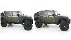 Smittybilt Front And Rear Body Cladding Kit For Jeep Wrangler Jk Unlimited 4-door