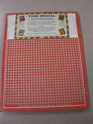Vintage Punch Board Toms Special .10 Cigarette Gambling Device 4572 Boxpb-16