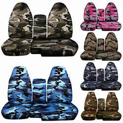 Fits 2004-2012 Ford Ranger Camo Car Seat Covers 60-40 Seat+console Coverchoose
